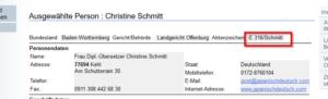 ドイツ語認証翻訳・公認翻訳士_クリスティーネ ・シュミットの登録番号